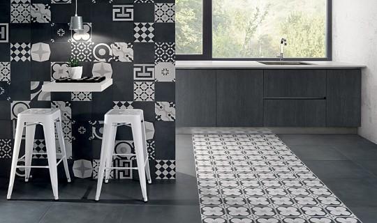 Cementine Black&White, ceramica Fioranese