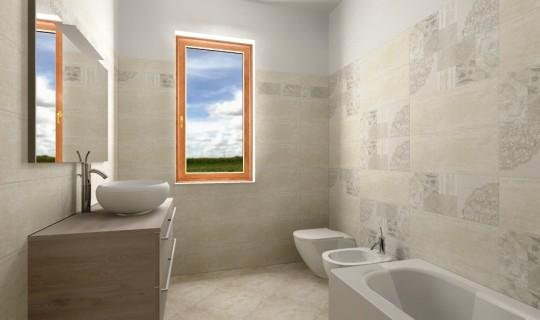 Progettazione di un bagno con la serie Start, ceramica Naxos