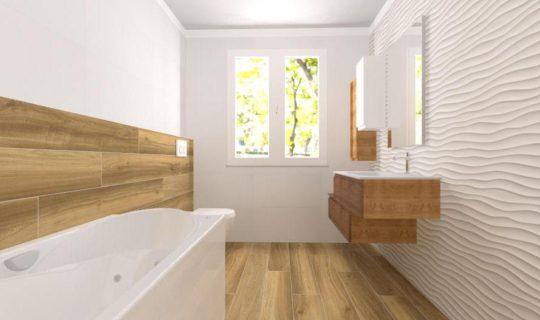 render bagno 3D wall