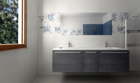 Progettazione di un bagno con la serie Imperfetto, ceramica Marazzi