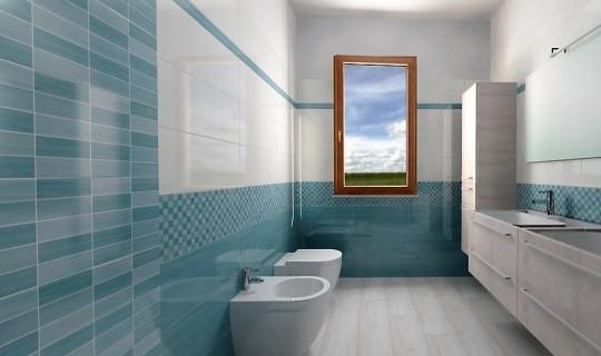 Progettazione di un bagno con la serie Soft, ceramica Naxos