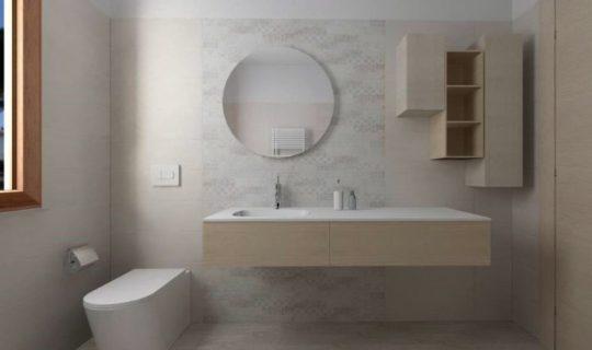 Bagno progettato con la serie Clayline, ceramica Marazzi (2)