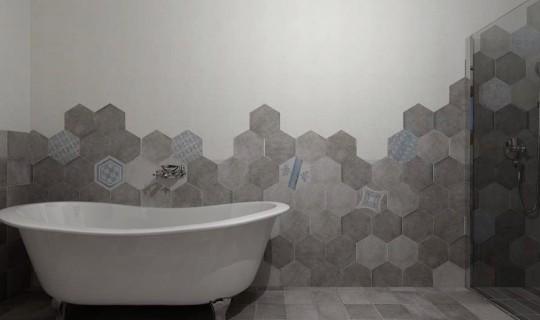 Bagno progettato con la serie New Orlans, ceramica Cir